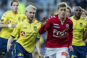 Johan Larsson (Br�ndby IF), Nicholas Marfelt (S�nderjyskE)