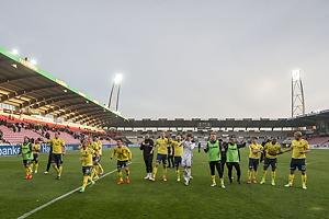 Br�ndbyspillerne jubler p� MCH Arena