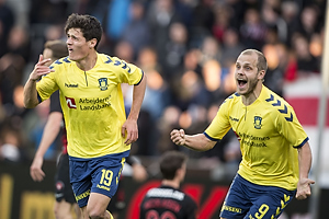 Christian N�rgaard, m�lscorer (Br�ndby IF), Teemu Pukki (Br�ndby IF)