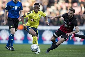 Lebogang Phiri (Br�ndby IF), Janus Drachmann (FC Midtjylland)