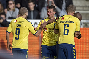 Teemu Pukki, m�lscorer (Br�ndby IF), Kamil Wilczek (Br�ndby IF), Hj�rtur Hermannsson (Br�ndby IF)