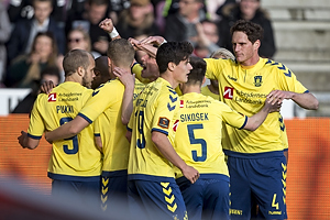 Teemu Pukki, m�lscorer (Br�ndby IF), Christian N�rgaard (Br�ndby IF), Benedikt R�cker (Br�ndby IF), Gregor Siko�ek (Br�ndby IF)