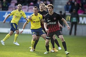 Kamil Wilczek (Br�ndby IF), Rasmus Nicolaisen (FC Midtjylland)