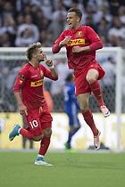 Marcus Ingvartsen, m�lscorer (FC Nordsj�lland), Emiliano Marcondes (FC Nordsj�lland)