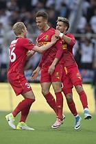 Marcus Ingvartsen, m�lscorer (FC Nordsj�lland), Emiliano Marcondes (FC Nordsj�lland), Victor Nelsson (FC Nordsj�lland)