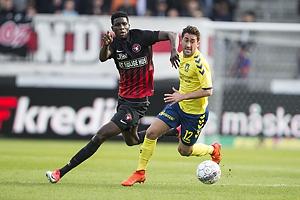 Paul Onuachu (FC Midtjylland), Frederik Holst (Br�ndby IF)