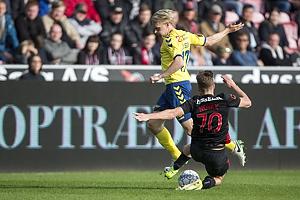 Johan Larsson (Br�ndby IF), Filip Novak (FC Midtjylland)
