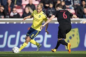Teemu Pukki (Br�ndby IF), Markus Halsti (FC Midtjylland)