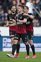 Mikkel Duelund, m�lscorer (FC Midtjylland), Jakob Poulsen (FC Midtjylland)