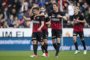 Mikkel Duelund, m�lscorer (FC Midtjylland), Jonas Borring (FC Midtjylland)