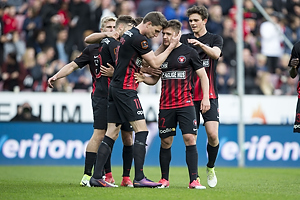 Jonas Borring (FC Midtjylland), Mikkel Duelund, m�lscorer (FC Midtjylland)