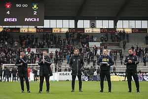 Martin Retov, assistenttr�ner (Br�ndby IF), Alexander Zorniger, cheftr�ner (Br�ndby IF), Mark Strudal, angrebstr�ner (Br�ndby IF)