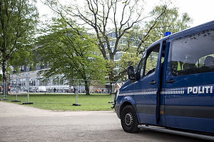 Politi ved Parken