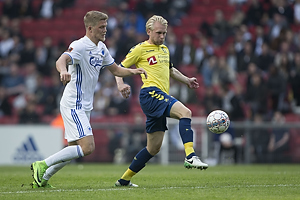 Andreas Cornelius (FC K�benhavn), Johan Larsson (Br�ndby IF)