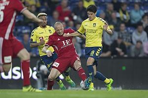 Michael Lumb (Lyngby BK), Christian N�rgaard (Br�ndby IF)