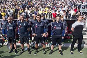 Mark Strudal, angrebstr�ner (Br�ndby IF), Martin Retov, assistenttr�ner (Br�ndby IF), Alexander Zorniger, cheftr�ner (Br�ndby IF)
