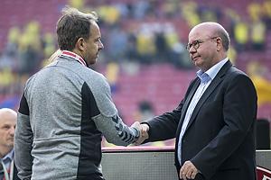 Alexander Zorniger, cheftr�ner (Br�ndby IF), Jesper M�ller, formand [6610] (DBU)