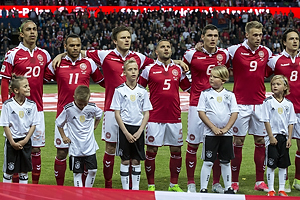 Yussuf Yurary Poulsen (Danmark), Martin C. Braithwaite (Danmark), William Kvist J�rgensen (Danmark), Riza Durmisi (Danmark), Andreas Christensen (Danmark), Nicolai J�rgensen (Danmark), Thomas Delaney (Danmark)