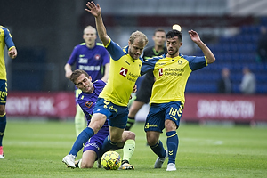 Jakob Poulsen, anf�rer (FC Midtjylland), Teemu Pukki (Br�ndby IF), Besar Halimi (Br�ndby IF)