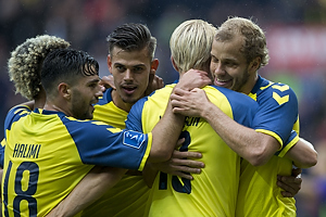 Besar Halimi (Br�ndby IF), Jan Kliment (Br�ndby IF), Johan Larsson (Br�ndby IF), Teemu Pukki (Br�ndby IF)