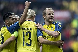 Johan Larsson (Br�ndby IF), Teemu Pukki, m�lscorer (Br�ndby IF)