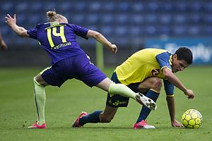 Simon Kroon (FC Midtjylland), Christian N�rgaard (Br�ndby IF)