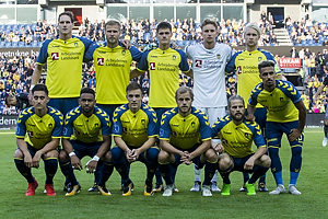 Benedikt R�cker (Br�ndby IF), Paulus Arajuuri (Br�ndby IF), Christian N�rgaard (Br�ndby IF), Frederik R�nnow (Br�ndby IF), Johan Larsson (Br�ndby IF), Svenn Crone (Br�ndby IF), Kevin Mensah (Br�ndby IF), Lasse Vigen Christensen (Br�ndby IF), Teemu Pukki (Br�ndby IF), Kasper Fisker (Br�ndby IF), Hany Mukhtar (Br�ndby IF)