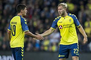 Christian N�rgaard (Br�ndby IF), Paulus Arajuuri (Br�ndby IF)