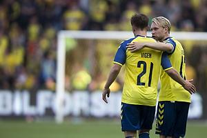 Lasse Vigen Christensen, m�lscorer (Br�ndby IF), Johan Larsson (Br�ndby IF)