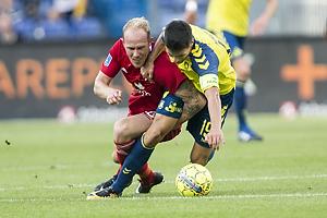 Mikkel Rygaard (Lyngby BK), Christian N�rgaard, anf�rer (Br�ndby IF)