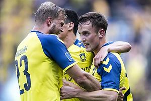 Lasse Vigen Christensen, m�lscorer (Br�ndby IF), Paulus Arajuuri (Br�ndby IF)