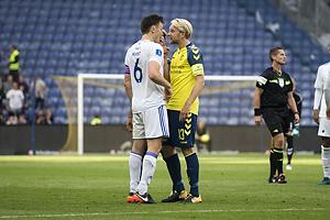 William Kvist, anf�rer (FC K�benhavn), Johan Larsson, anf�rer (Br�ndby IF)