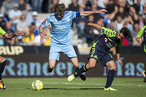 Mads Agesen, anf�rer (Randers FC), Besar Halimi (Br�ndby IF)