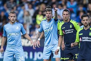Jonas Bager (Randers FC), Mads Agesen, anf�rer (Randers FC), Kamil Wilczek (Br�ndby IF)