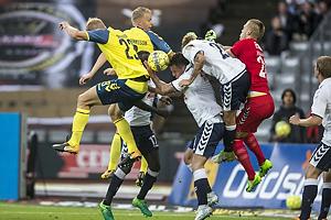 Paulus Arajuuri (Br�ndby IF), Hj�rtur Hermannsson (Br�ndby IF), Aleksandar Jovanovic (Agf)
