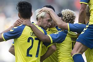 Johan Larsson, m�lscorer (Br�ndby IF), Svenn Crone (Br�ndby IF)