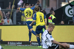 Jan Kliment, m�lscorer (Br�ndby IF), Kasper Fisker (Br�ndby IF)