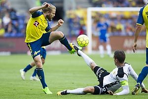 Kasper Fisker (Br�ndby IF), Kjartan Henry Finnbogason (AC Horsens)