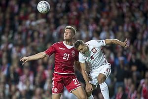 Andreas Cornelius (Danmark), Thiago Cionek (Polen)