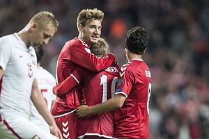 Nicklas Bendtner (Danmark), Christian Eriksen (Danmark), Thomas Delaney (Danmark)