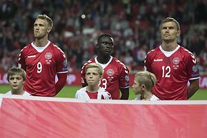 Nicolai J�rgensen (Danmark), Pione Sisto (Danmark), Andreas Bjelland (Danmark)