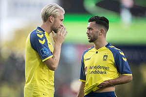 Johan Larsson (Br�ndby IF), Besar Halimi (Br�ndby IF)