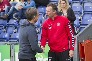 Alexander Zorniger, cheftr�ner (Br�ndby IF), Morten Wieghorst, cheftr�ner (Aab)