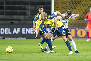 Teemu Pukki (Br�ndby IF), Emil Kj�rsgaard (Led�je-Sm�rum Fodbold)