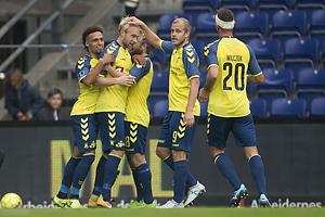 Johan Larsson (Br�ndby IF), Hany Mukhtar (Br�ndby IF), Teemu Pukki (Br�ndby IF)