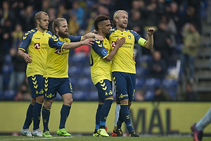 Teemu Pukki (Br�ndby IF), Kasper Fisker (Br�ndby IF), Hany Mukhtar (Br�ndby IF), Johan Larsson, anf�rer (Br�ndby IF)