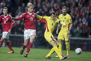 Kasper Dolberg (Danmark), Vlad Chririches, anf�rer (Rum�nien)