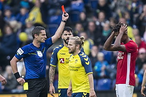Anders Poulsen, dommer, Sammy Skytte (Silkeborg IF)