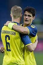 Hj�rtur Hermannsson (Br�ndby IF), Christian N�rgaard (Br�ndby IF)