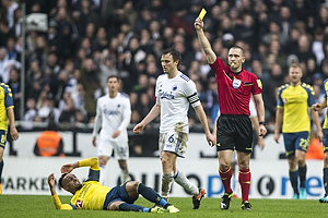 Mads-Kristoffer Kristoffersen, dommer, William Kvist, anf�rer (FC K�benhavn), Hany Mukhtar (Br�ndby IF)